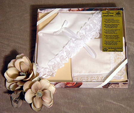 AHBON1 - Christening Bonnet to Trousseau Hankie - Narrow Lace