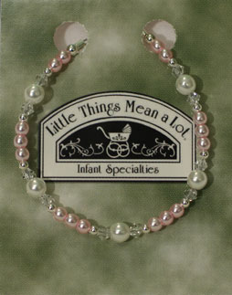 BRACE2- Pearl and Pink Sterling Silver Bracelet