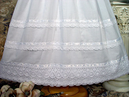 Close-up of Christening Gown Skirt