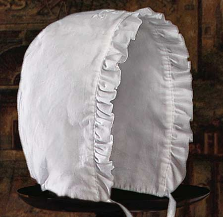 Close-up of Christening Bonnet
