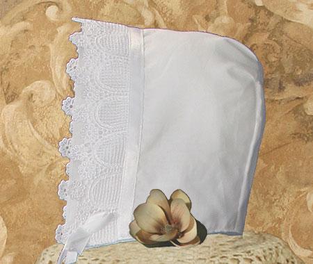 Close-up of Christening Bonnet