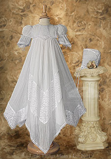 CO76GS - Victorian Lace Heirloom Christening Gown