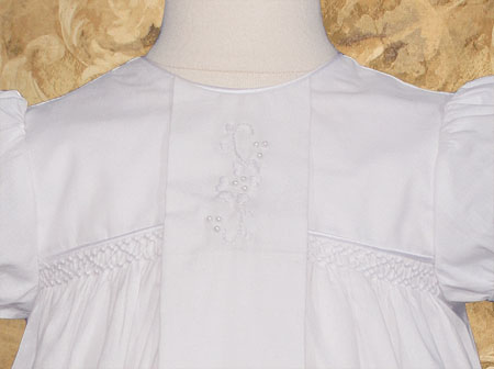 Close-up of Christening Gown Bodice ...