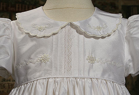 Close-up of Christening Gown Bodice