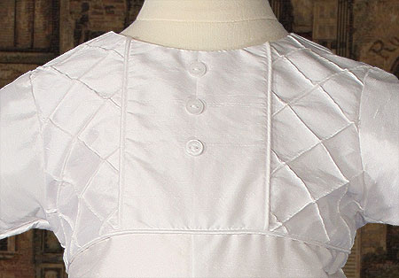Close-up of Christening Bodice