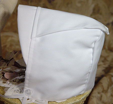 Close-up of Christening Hat