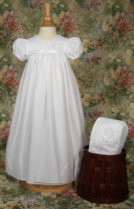 Close-up of Christening Gown
