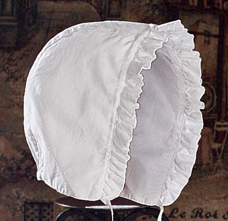 Detailed View of Christening Bonnet