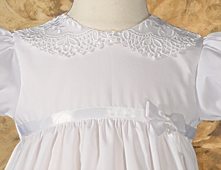 Detailed View of Christening Gown Bodice